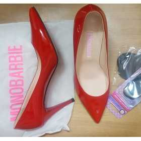 Mono Narbie Red Leather Heel